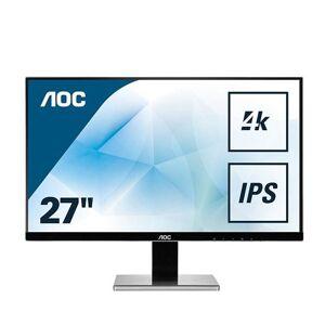 "AOC Pro-line U2777PQU - Écran LED - 27"" - 3840 x 2160 4K - IPS - 350 cd/m² - 1000:1 - 4 ms - HDMI (MHL), VGA, DVI-D, DisplayPort - haut-parleurs - noir, argent - Ecran PC"