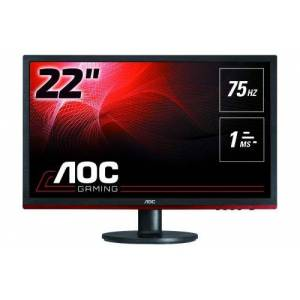 "AOC Gaming G2260VWQ6 - Écran LCD - 21.5"" - 1920 x 1080 Full HD (1080p) - TN - 250 cd/m² - 1000:1 - 1 ms - HDMI, VGA, DisplayPort - noir - avec Re-Spawned 3 Year Advance Replacement and Zero Dead Pixel Guarantee / 1 Year One-Time Accident Damage Exchange - Ecran PC"