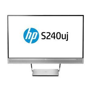 "HP EliteDisplay S240uj Wireless Charging Monitor - Écran LED - 23.8"" (23.8"" visualisable) - 2560 x 1440 - IPS - 300 cd/m² - 1000:1 - 5 ms - HDMI, HDMI (MHL), DisplayPort, USB-C - haut-parleurs - argent - Ecran PC"