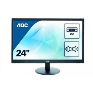 "AOC - E2470SWDA - Ecran PC 23.6"""" DVI,VGA et Hauts-parleur - Noir - Ecran PC"