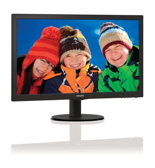 """PHLI Philips V-line 223V5LHSB - Écran LED - 21.5"""" - 1920 x 1080 Full HD (1080p) - 250 cd/m² - 1000:1 - 5 ms - HDMI, VGA - noir texturé, ligne de contour noire - Ecran PC"""