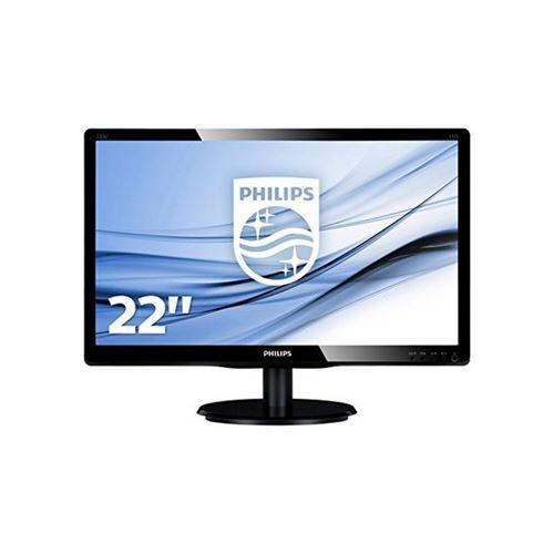 """Philips V-line 223V5LSB2 - Écran LED - 21.5"""" - 1920 x 1080 Full HD (1080p) - 200 cd/m² - 600:1 - 5 ms - VGA - noir texturé, ligne de contour noire - Ecran PC"""