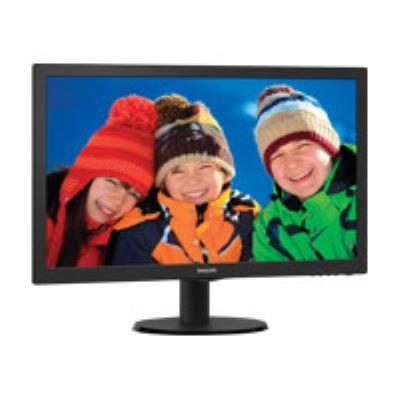 """Philips V-line 223V5LSB2 - Écran LED - 21.5"""" - 1920 x 1080 Full HD (1080p) @ 60 Hz - 200 cd/m² - 600:1 - 5 ms - VGA - noir texturé, ligne de contour noire - Ecran PC"""