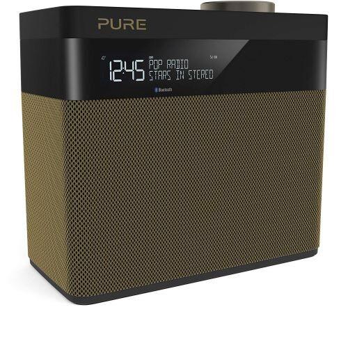 Pure Pop Maxi S – Radio Numérique Dab+/fm – Musique En Streaming Via Bluetooth – Son Stéréo Premium – Écran Lcd – 20 Présélections – Double Alarme – Gold - Radio-réveil
