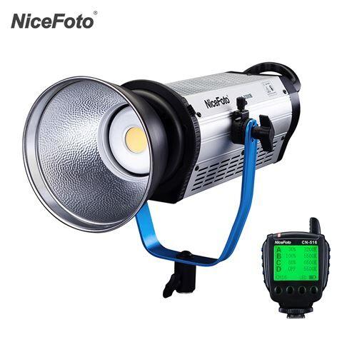 Non communiqué NiceFoto HA-3300B 330W Professional 5500K Daylight COB LED Vidéo lumière Film Lumière Équipement photographique Éclairage de studio CRI 97+ 36000LM Support super-refroidissant APP et Télécommande 2.4G - Accessoire photo