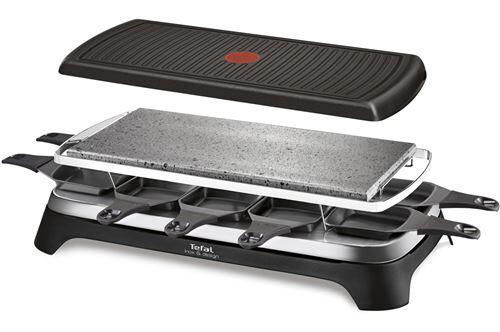TEFAL Raclette pour 10 personnes Tefal Inox & Design 1350 W - Raclette