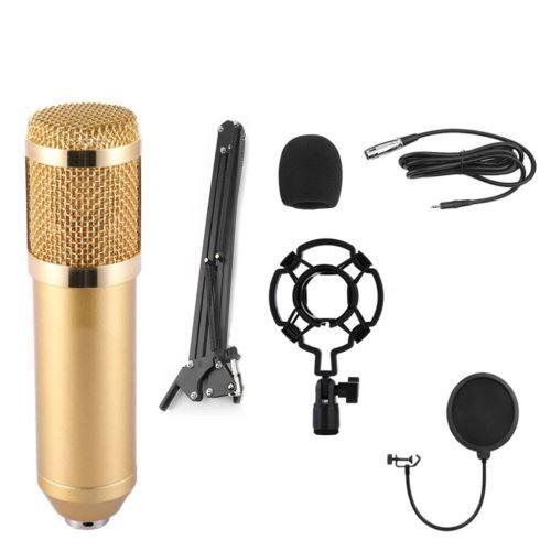 kit microphone À condensateur professionnel ensemble complet pour studio d'enregistrement bm900 bt025 - enceinte sans fil