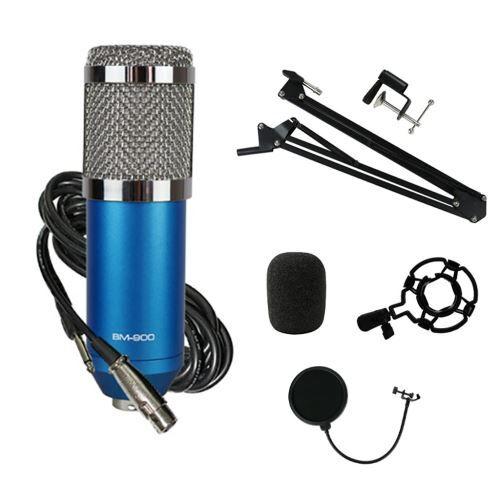 kit microphone À condensateur professionnel ensemble complet pour studio d'enregistrement bm900 bt012 - enceinte sans fil