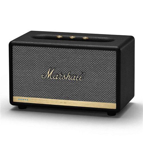 marshall acton ii voice haut-parleur bluetooth à activation vocale avec amazon alexa intégré - noir - enceinte surround