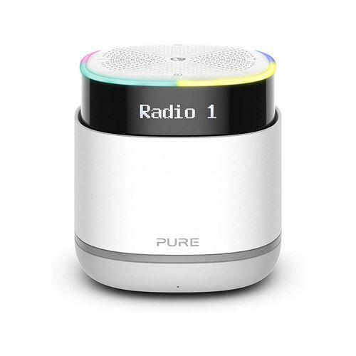 pure streamr - enceinte sans fil portable avec assistant vocal alexa et diffusion bluetooth (gris clair) - enceinte surround