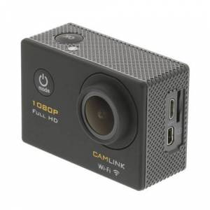 Camlink CL-AC21 - Caméra de poche - fixable - 1080p - 12.0 MP - Wi-Fi - sous-marin jusqu'à 30 m - noir - Caméra sport
