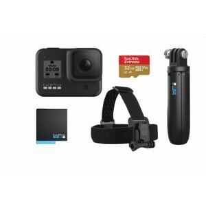 GoPro Pack Caméra sport GoPro Hero 8 Black + Poignée Shorty + Bandeau de fixation frontale + Carte SD 32 Go + Batterie de recharge - Caméra sport