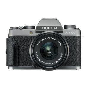 Fujifilm Kit Hybride Fujifilm X-T100 Anthracite + Objectif XC 15-45 mm f/3.5-5.6 OIS PZ + Objectif XC 50-230 mm f/4.5-6.7 OIS II Noir - Appareil photo hybride