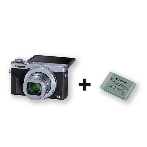 canon pack compact canon powershot g7x mark iii argent + 2éme batterie incluse - appareil photo compact