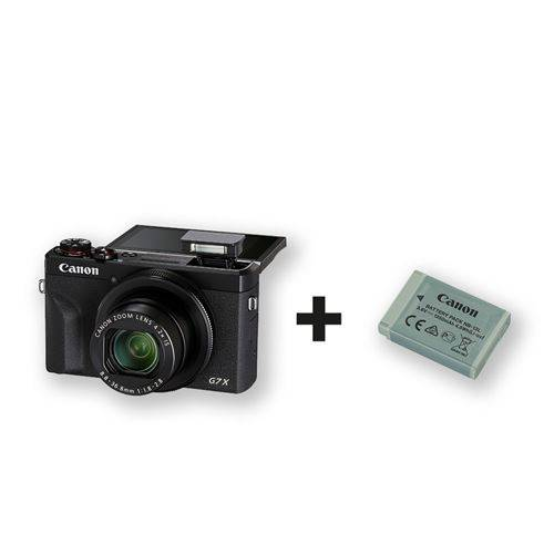 canon pack compact canon powershot g7x mark iii noir + 2éme batterie incluse - appareil photo compact