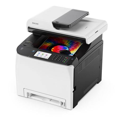 ricoh sp c261sfnw - imprimante multifonctions - couleur - laser - a4 (210 x 297 mm) (original) - a4 (support) - jusqu'à 20 ppm (copie) - jusqu'à 20 ppm (impression) - 250 feuilles - usb 2.0, lan, wi-fi(n), hôte usb 2.0 - imprimante multifonctions