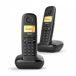 Gigaset Téléphone fixe sans fil Gigaset A170 Duo Black, Agenda 50 numéros - 10 tons - Téléphone sans fil