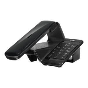 AEG Llloyd Combo 15 - Téléphone sans fil - système de répondeur avec ID d'appelant - DECT\GAP - noir - Téléphone sans fil