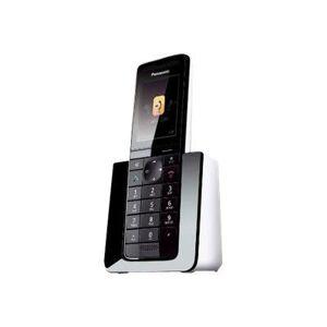 Panasonic KX-PRS120 - Téléphone sans fil - système de répondeur avec ID d'appelant/appel en instance - DECT\GAP - noir, blanc - Téléphone sans fil