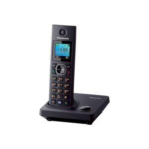 Panasonic KX-TG7851 - Téléphone sans fil avec ID d'appelant - DECT\GAP - noir - Téléphone sans fil
