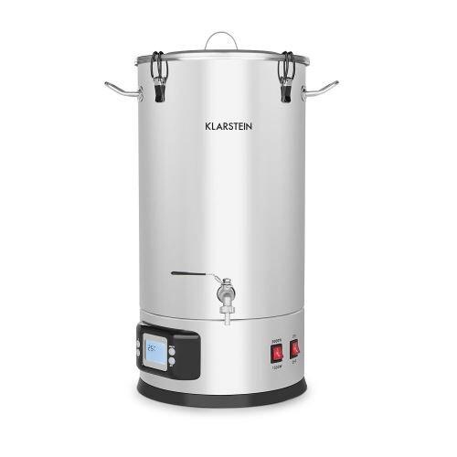 Klarstein Maischfest Kit brassage de bière maison - Cuve 30 litres - minuterie - 1500W / 3000W - inox - Eau, boisson et glaçons