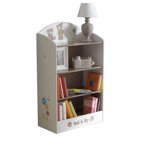 Demeyere Ted Et Lily Etagere 60x30x100 Cm - Blanc / Beige - Coffre à jouets et rangements