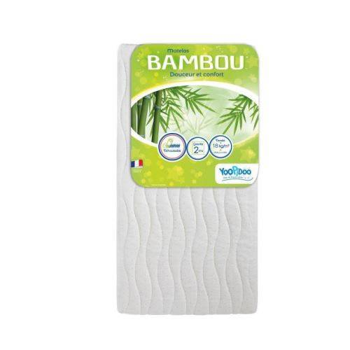 YOOPIDOO Matelas bébé Bamboo - Viscose Absorbante Douce Respirante - Fabrication française - 60 x 120 x 12 cm - Matelas Drap-Housse