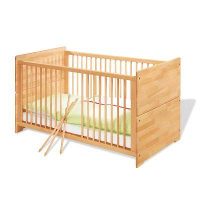 Pinolino - Lit bébé évolutif Natura - 140x70 cm - massif - huilé naturel - Lit pour enfant