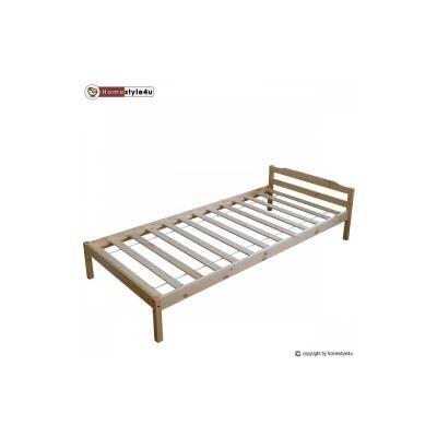 HomeStyle4U Lit Simple Naturel Verni 90x200 - Lit pour enfant