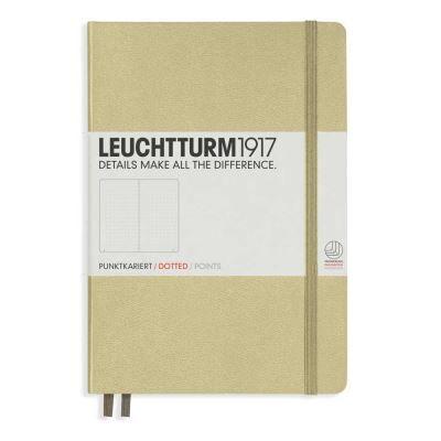 leuchtturm1917 carnet leuchtturm 1917 medium (a5) couverture rigide, 249 pages numérotées, pointillés, sable - carnets et journaux intimes