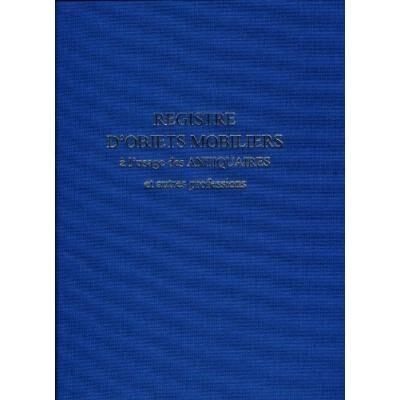 lebon et vernay registre objet mobilier pour antiquaire brocanteur 104 pages format 25x32cm bleu marine 22459 - carnets et journaux intimes