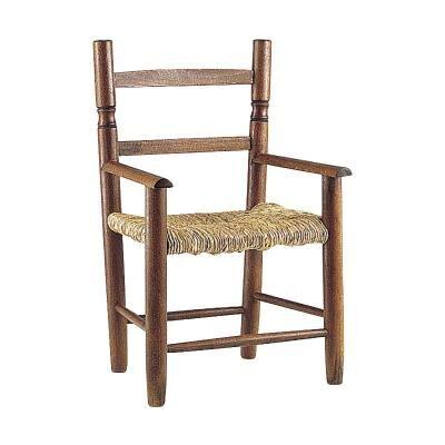 PEGANE Chaise enfant en hêtre teinté verni avec siège roseau, Dim : 31 x 30 x 55 cm -PEGANE- - Autre mobilier bébé