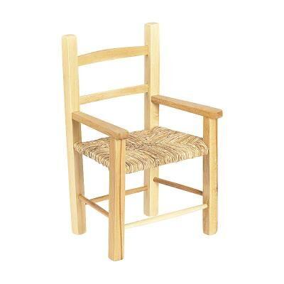 PEGANE Chaise enfant en hêtre naturel verni Pieds carrés, Dim : 38 x 31 x 58 cm -PEGANE- - Autre mobilier bébé