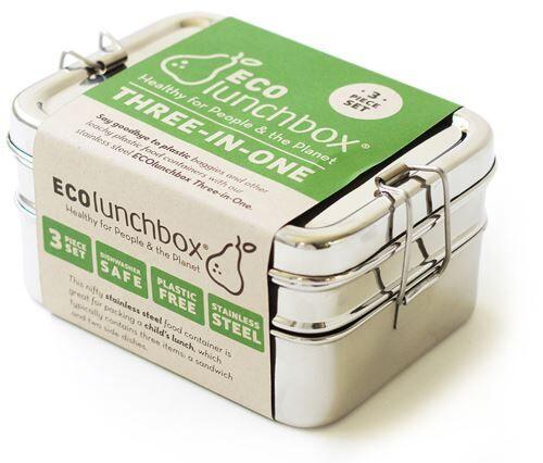 Non communiqué Lunch Box Inox 3 en 1 - Boîtes de conservation