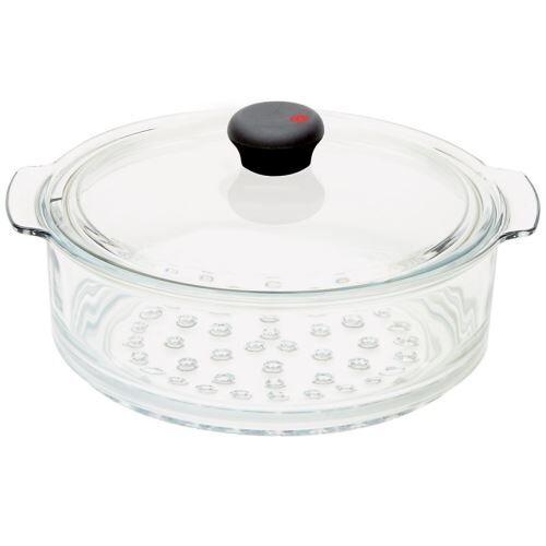 Non communiqué Cuit-vapeur en verre + couvercle # CWTECVV20 - Cookway ultralu ( poignée amovible) - Cristel - Ustensiles