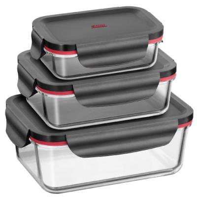 Silit Set boîtes alimentaires multifonction silit storio, 3 pièces, hermétique, verre borosilicate, plastique, 0022632711 - Tablettes éducatives