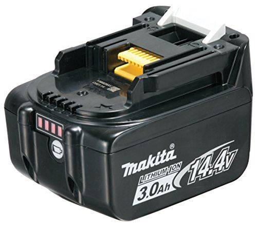 Makita 197615 – 3 Lithium-Ion 3000 mAh 14.4 V Rechargeable Battery – Rechargeable Batteries (Lithium-Ion (Li-Ion), 3000 mAh, Power Tool, 14.4 V, Black) - Piles