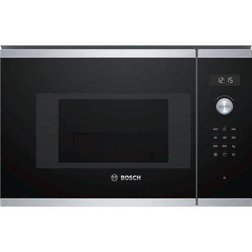Bosch Bel524ms0 - Micro-ondes Grill Encastrable Inox - 20 L - 800 W - Grill 1000 W - Micro ondes + Gril