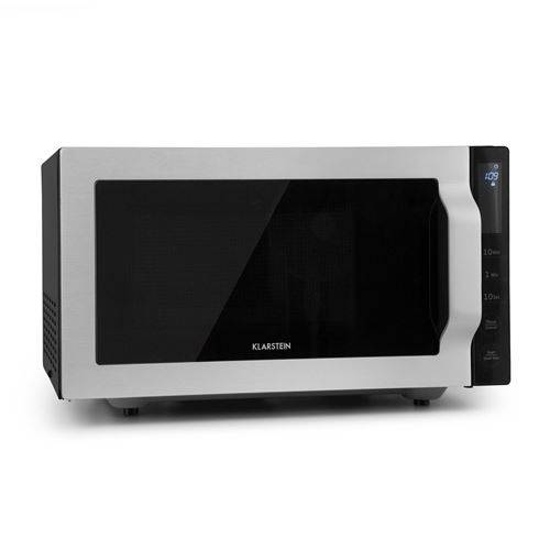 klarstein brilliance roomy four micro-ondes multifonction 25l - grill 1000w - inox - micro-ondes