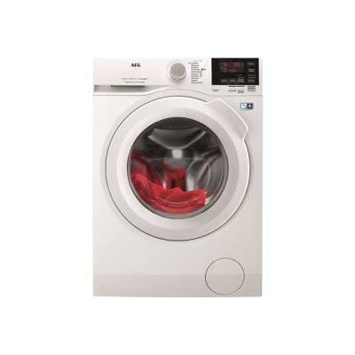 aeg lavamat 6000 series l6fbg841 machine à laver - chargement frontal - pose libre - blanc - lave linge hublot