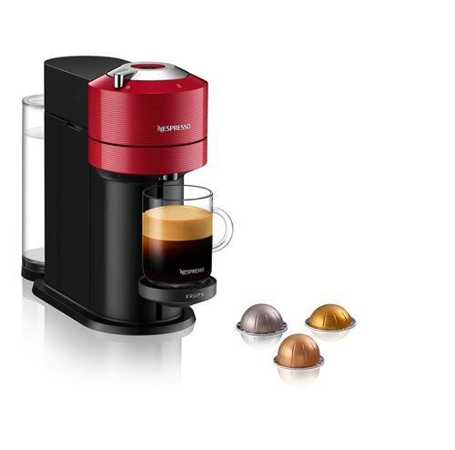 Krups Cafetière à capsules Nespresso Vertuo Next YY4296FD Rouge - Cafetière à dosette