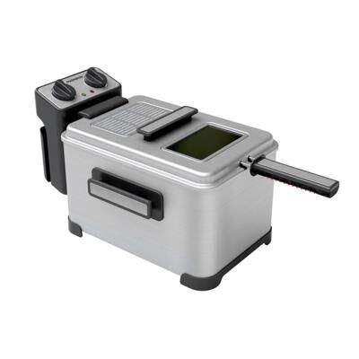 Thomson Friteuse professionnelle capacité 4 litres - Puissance 2000 watts - Arrêt automatique - Minuterie : 30 mn - THOMSON THDF06290 - Coloris : inox - Friteuse