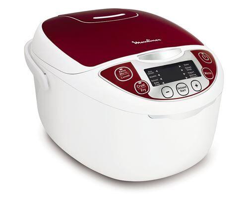 Moulinex mk705111 multicuiseur traditionnel 12-en-1 rouge 5 l - Mijoteur