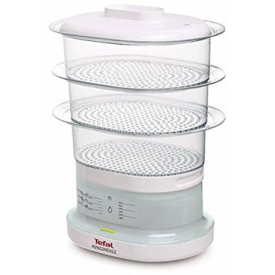 Tefal - vc1301 - cuiseur vapeur électrique, 650 watts, transparent / blanc - Accessoires appareil de cuisson