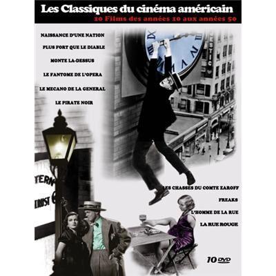 RDM Edition Coffret 10 DVD Les Classiques du cinéma américain des années 10 à 40 : Naissance d'une nation, Plus Fort que le Diable, Monte Là-dessus, Le fantôme de l'opéra, Le mécano de la General, Le pirate noir, Les chasses du Comte Zaroff, Freaks, L'homme de la rue - DVD multizone