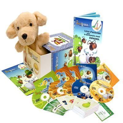 Petralingua Kit audiovisuel PetraLingua dvd-cd-livres espagnol pour enfants et cours en ligne - Autres