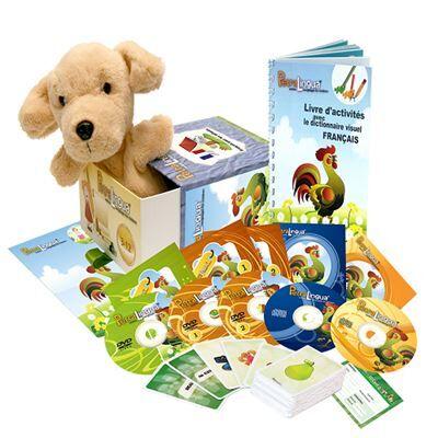 Petralingua Kit audiovisuel PetraLingua dvd-cd-livres français pour enfants et cours en ligne - Autres
