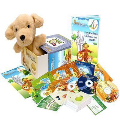 Petralingua Kit audiovisuel PetraLingua dvd-cd-livres anglais pour enfants et cours en ligne - Autres
