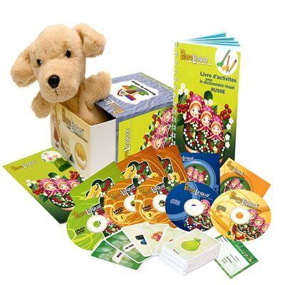 Petralingua Kit audiovisuel PetraLingua dvd-cd-livres russe pour enfants et cours en ligne - Autres