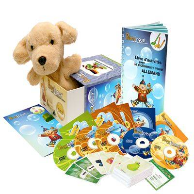 Petralingua Kit audiovisuel PetraLingua dvd-cd-livres allemand pour enfants et cours en ligne - Autres